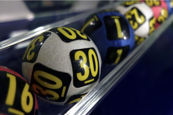 Lottery balls lined up